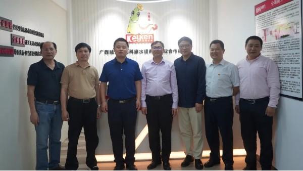广西陆川县刘启县长带队到科康水蛭素研究基地考察指导工作